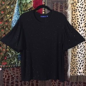 Very Dressy n Sparkly Bell Sleeve top